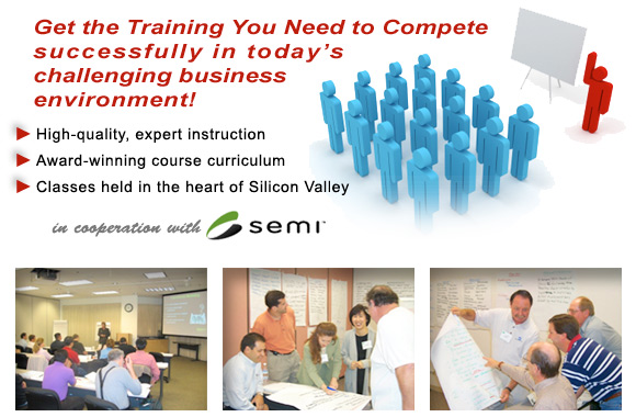 Get the training you need to compete successfully in today's challenging business environment!